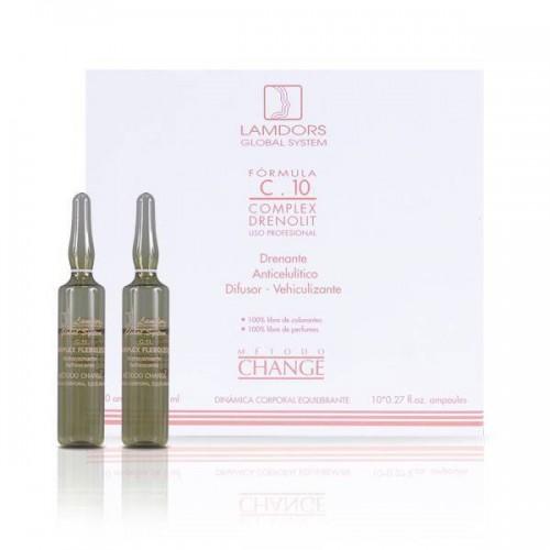 Draining Anti-Cellulite Diffuser C.10 COMPLEX DRENOLIT 0.27 fl oz x 10 ampoules