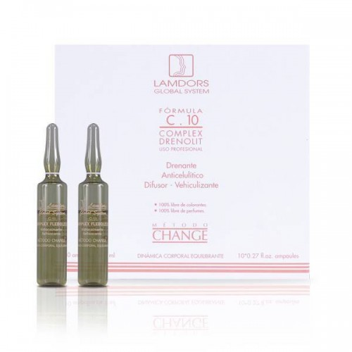 Drenante Anticelulítico Difusor C.10 COMPLEX DRENOLIT 8ml x 10 ampollas